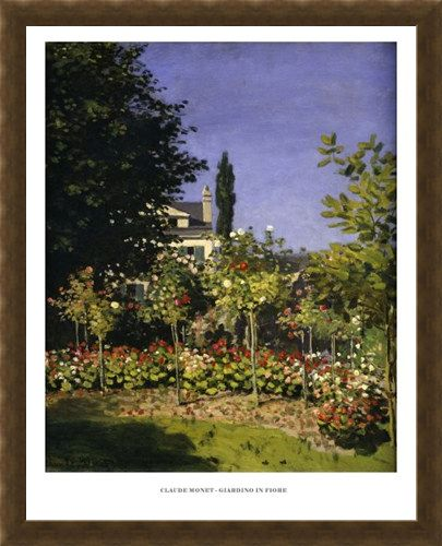 Framed Framed The Garden in Bloom - Claude Monet
