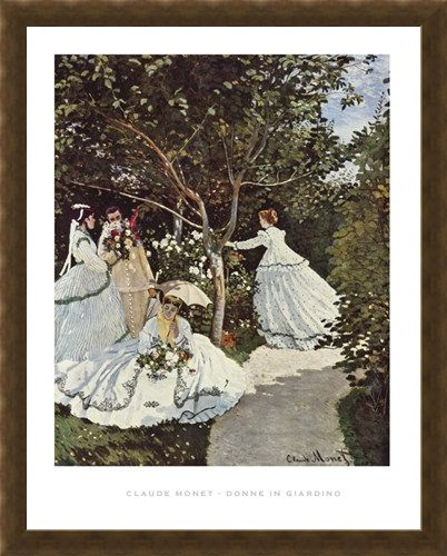 Framed Framed Women in the Garden - Claude Monet