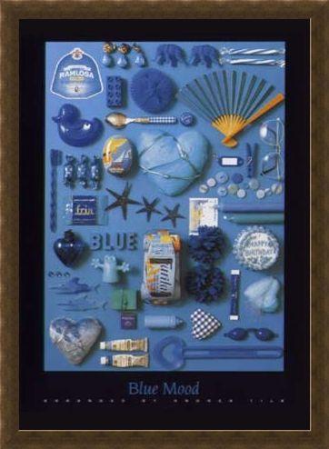 Framed Framed Blue Mood - Andrea Tilk