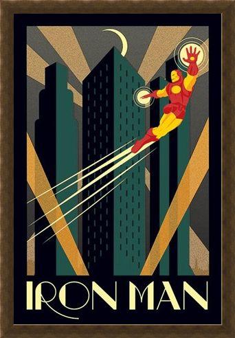 Framed Framed Iron Man - Marvel Deco