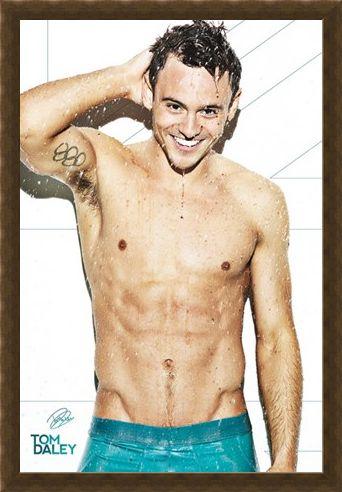Framed Framed Tom Daley - Shower Time
