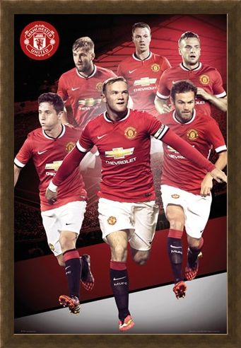 Framed Framed Manchester United Star Players 2014/15 - Manchester United Football Club