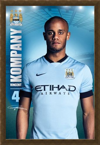 Framed Framed Vincent Kompany - Manchester City Football Club