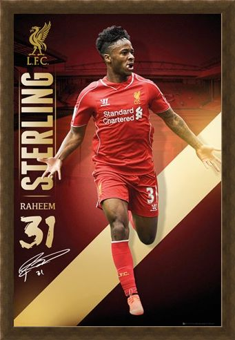 Framed Framed Raheem Sterling - Liverpool Football Club