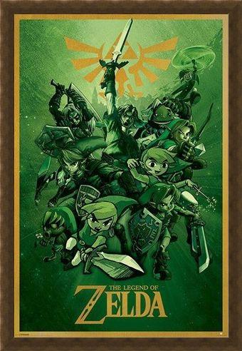 Framed Framed The Legend Of Zelda - Nintendo