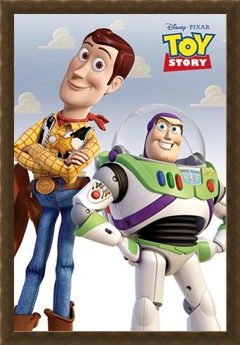 Framed Framed Woody & Buzz - Toy Story