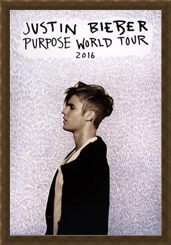 Framed Framed Purpose Tour Poster - Justin Bieber