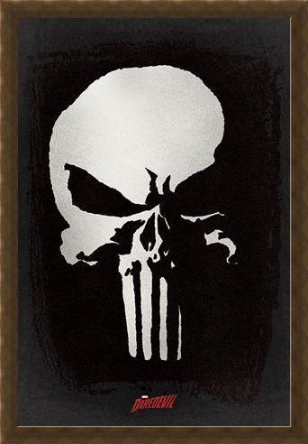 Framed Framed The Punisher Logo - Daredevil TV Series