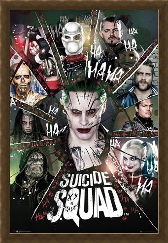 Framed Framed Shattered Circle - Suicide Squad