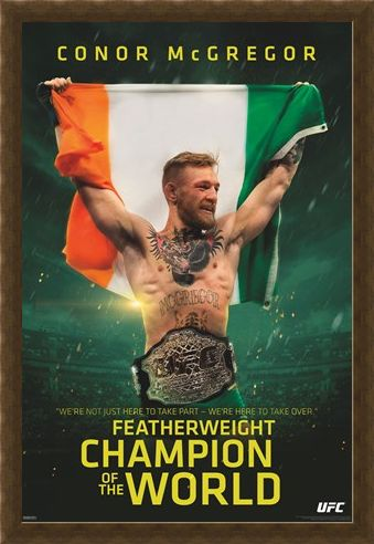 Framed Framed Featherweight Champion Of The World - Conor McGregor