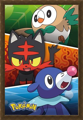 Framed Framed Alola Partners - Pokemon