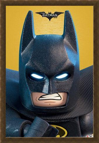 Framed Framed Lego Batman Close-Up - Lego Batman