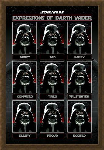 Framed Framed Expressions of Darth Vader - Star Wars