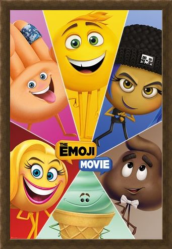 Framed Framed Star Characters - The Emoji Movie