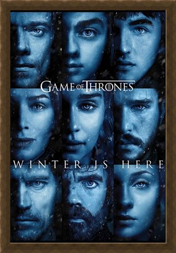 Framed Framed Winter is Here - Game Of Thrones