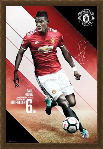 Framed Framed Pogba 17-18 - Manchester United