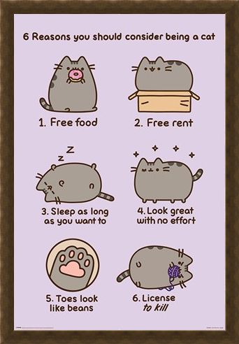 Framed Framed Reasons To Be A Cat - Pusheen