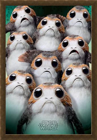 Framed Framed Many Porgs - Star Wars The Last Jedi