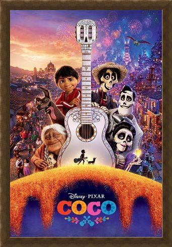 Framed Framed Día de Muertos Guitar - Coco