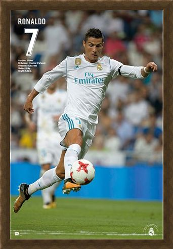 Framed Framed Ronaldo 17/18 - Real Madrid
