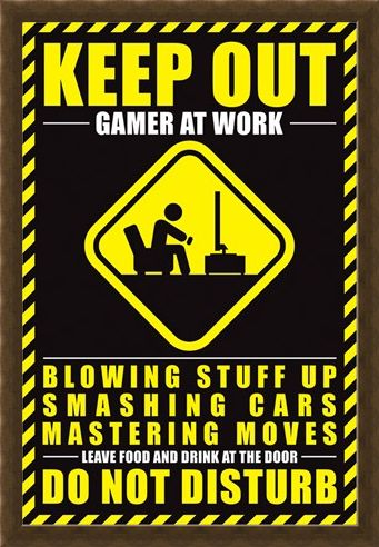 Framed Framed Gamer At Work - Do Not Disturb