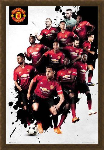 Framed Framed Players 18-19 - Manchester United