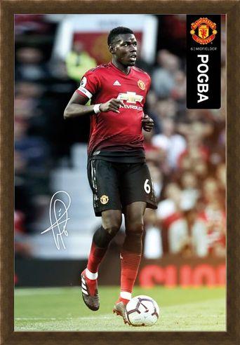 Framed Framed Pogba 18-19 - Manchester United