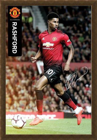 Framed Framed Marcus Rashford 18-19 - Manchester United