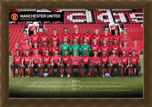 Framed Framed Manchester United Players 18-19 - Red Army