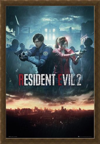 Framed Framed City Key Art - Resident Evil 2