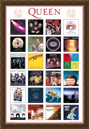 Framed Framed Album Covers - Queen