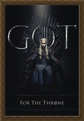 Framed Framed Daenerys For The Throne - Game Of Thrones