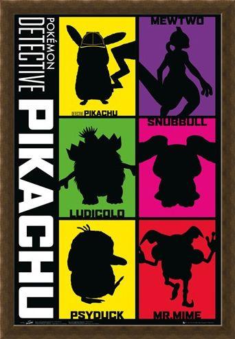 Framed Framed Silhouette - Detective Pikachu