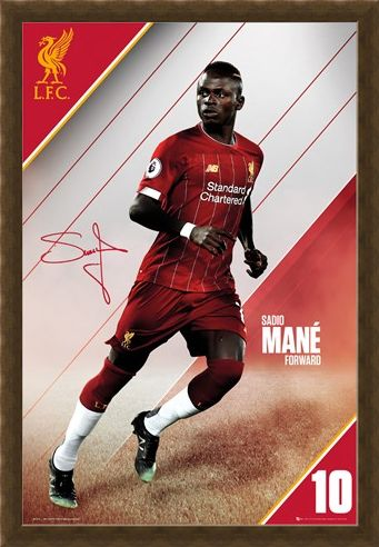 Framed Framed Mane 19-20 - Liverpool