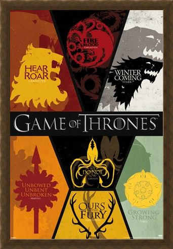 Framed Framed Sigils - Game of Thrones