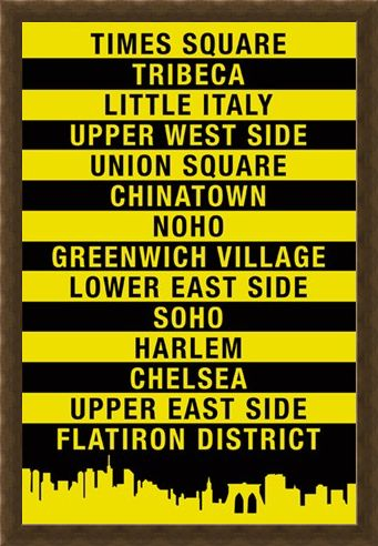 Framed Framed Signs of The Big Apple - New York City