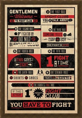 Framed Framed The First Rule of Fight Club... - Fight Club