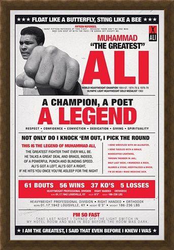 Framed Framed A Champion, A Poet, A Legend - Muhammad Ali
