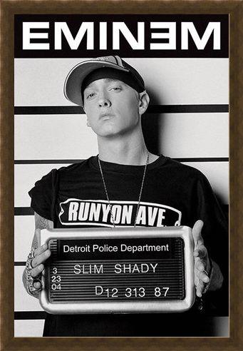 Framed Framed Slim Shady Mugshot - Eminem