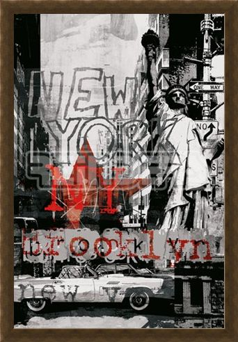 Framed Framed New York Collage 3 - New York City