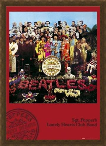 Framed Framed Sgt. Pepper's Lonely Hearts Club Band Album Cover - The Beatles