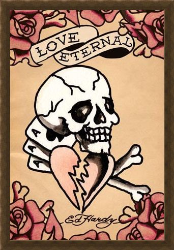 Framed Framed Love Eternal - Ed Hardy