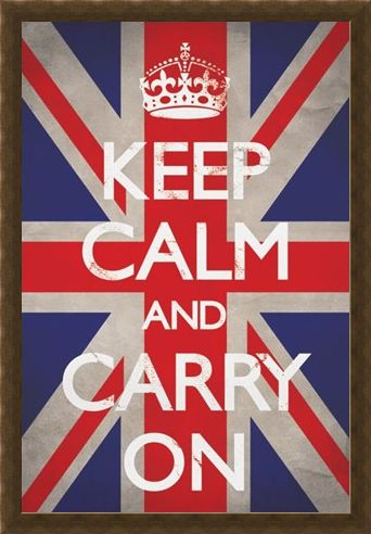 Framed Framed Keep Calm Union Jack - Keep Calm and Carry On