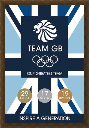 Framed Framed Inspire a Generation - Team GB - London 2012