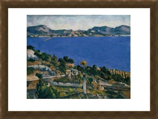 Framed Framed L'Estaque - Paul Cezanne