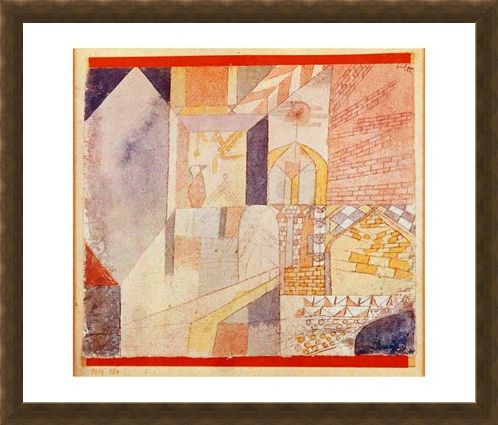 Framed Framed Architecture with Pitcher - Paul Klee