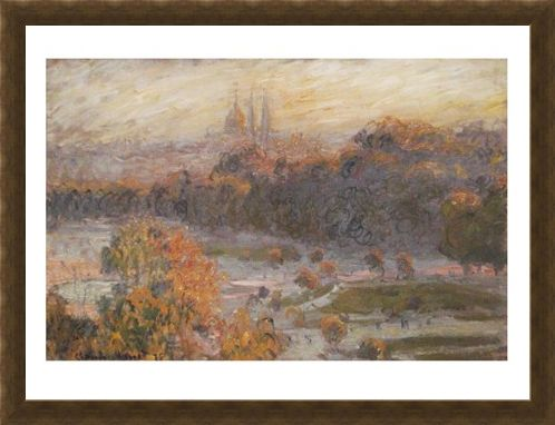 Framed Framed Les Tuileries - Claude Monet