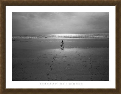 Framed Framed Joe on the Beach - by Henri Silberman