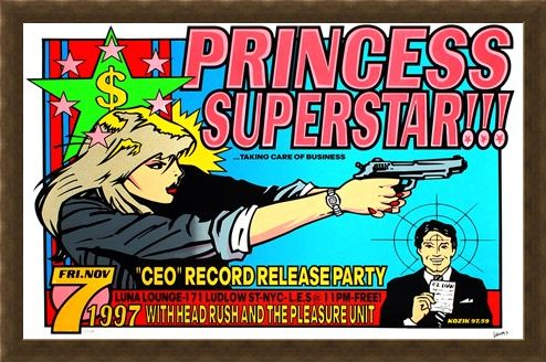 Framed Framed Princess Superstar!!! - Frank Kozik