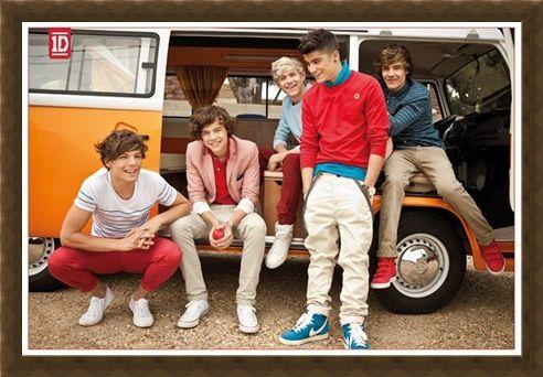 Framed Framed Camper Van Boys - One Direction